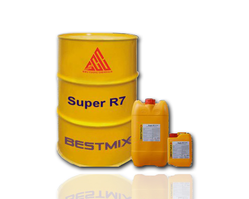 Phụ gia bê tông Super R7 - Phụ gia siêu hóa dẻo cho bê tông