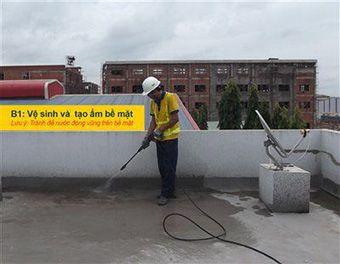 Hướng dẫn thi công chống thấm sân thượng bước 1